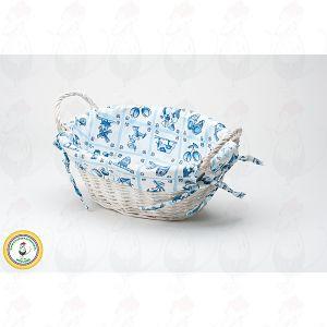 Brotkorb Delfter Blau Oval