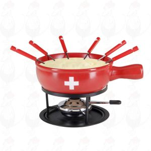 Käsefondue-Set Swiss Red 9-teilig