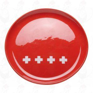 Schweiz Käsefondueteller - Rot XXX