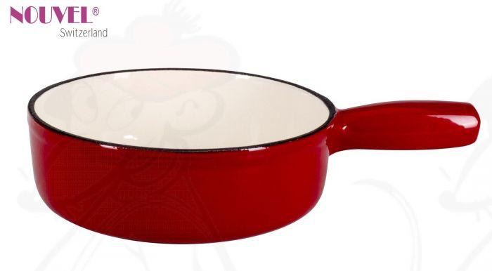 fondue topf rot wei 22cm online kaufen. Black Bedroom Furniture Sets. Home Design Ideas