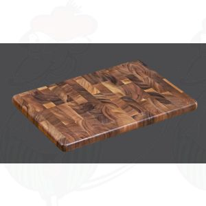 Tranchierbrett 45 x 30 x 2,5 cm , Akazien-Stirnholz