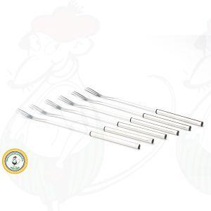 Fonduegabeln Edelstahl mit schwarzem Rand 6 Stück
