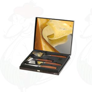 Gift box black, Käsehobel, Slicer fur junger Käse, Käse hatchet and presentation knife De Luxe Rosewood
