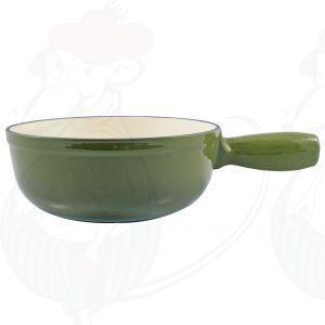 Käsefondue topf Grün Gusseisen