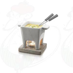 Boska Schokoladenfondue Set - Käsefondue Set Tapas Grau - 200 Gramm