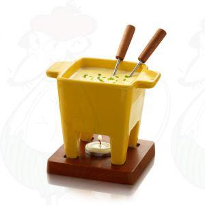 Boska Tapas Schokoladenfondue Set - Käsefondue Set Gelb
