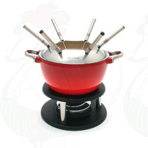 Fondue Set Noirmont 10 PC Cast Iron Swissmar Red