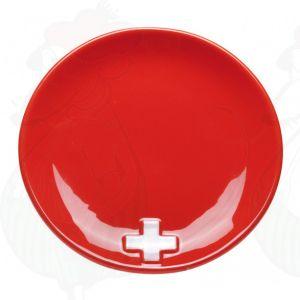 Schweiz Käsefondueteller - Rot X