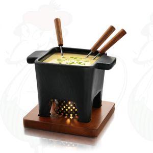 Tapas Schokoladenfondue Set - Käsefondue Set -Schwarz - 400 g